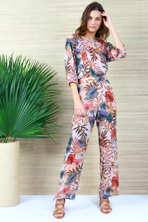 Blusa Tilly Vivos Flores estampado - V21