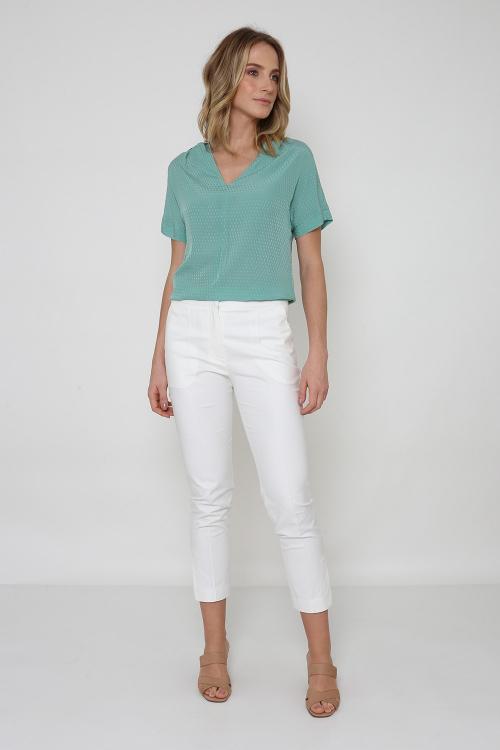 Blusa decote v cupro jacqua - SV2