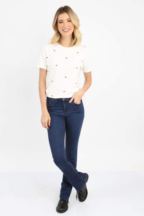T-Shirt Bordada Corações - I21