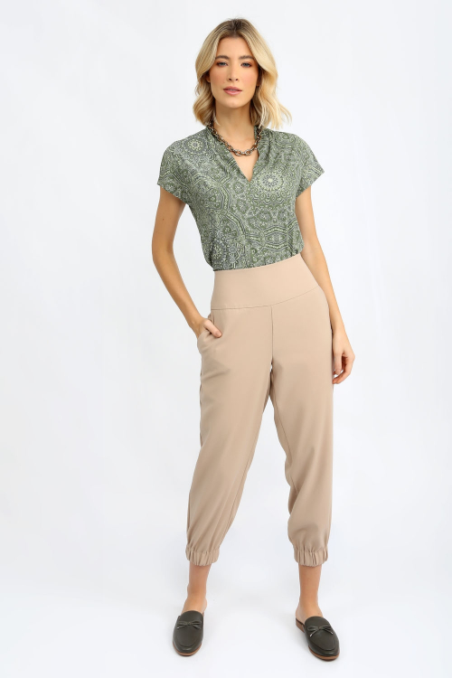Blusa joy decote v mandala - I21