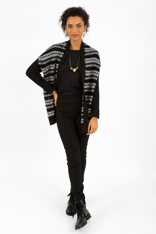 Cardigan Tricot Longo Texturizado - I21