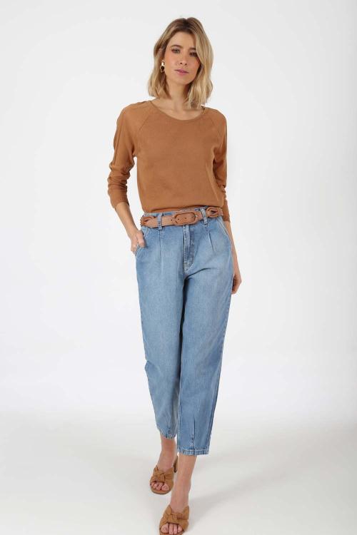 Blusa tricot intarsia - V21