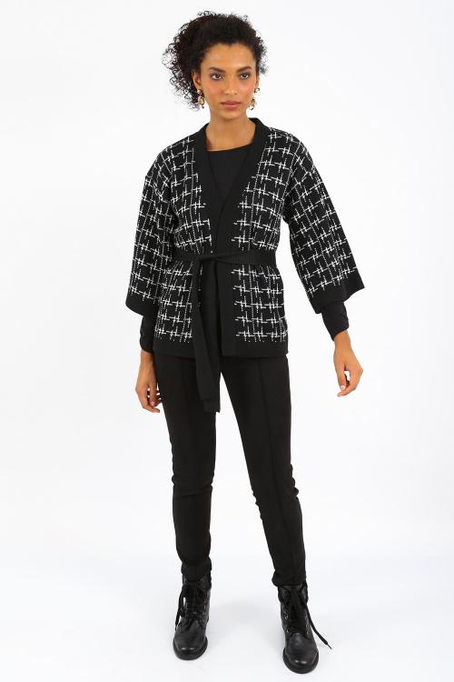 Kimono Tricot Tweed Bicolor - I21