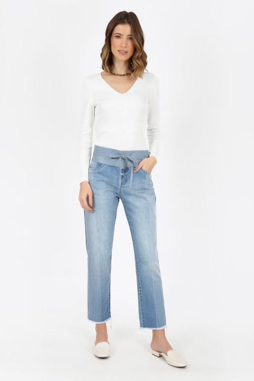 Blusa tricot decote v  - V21