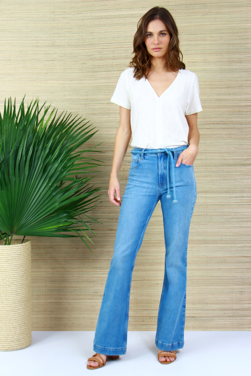 Calça Jeans Micro Flare - V21