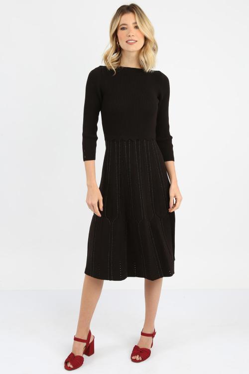 Vestido Tricot Detalhealhe Lurex - I21