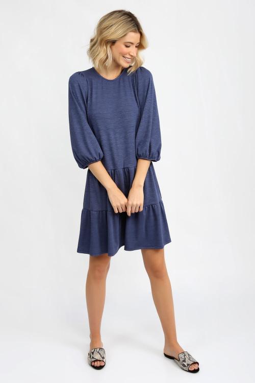 Vestido Recinto Franzido Texturizado - I21