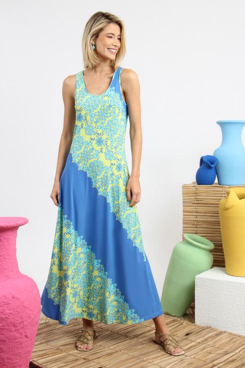 Vestido Joy Longo Arabesco - V21