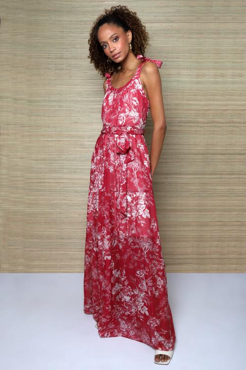 Vestido Tilly Longo. Paisagem - P - V21