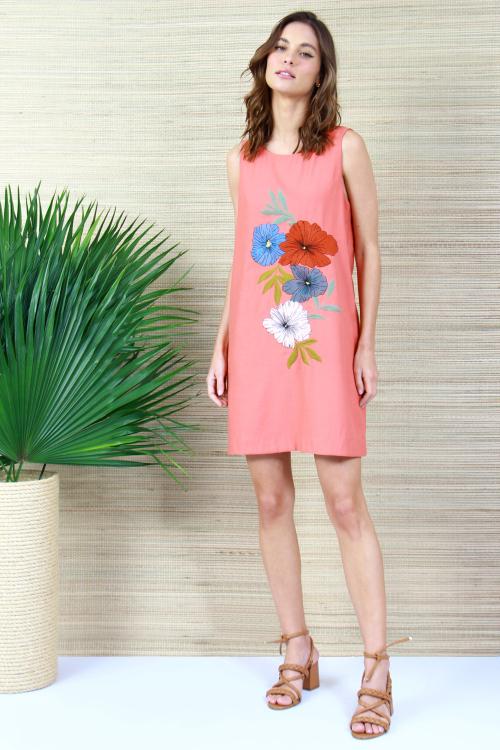 Vestido Bordado Flores - V21