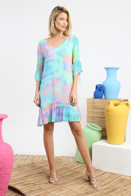 Vestido Tilly Curto Tie Dye - V21