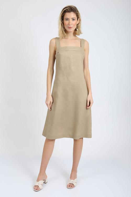 Vestido Linho Midi - P - V20