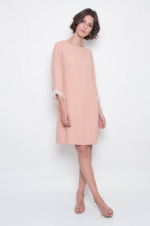 Vestido Pluma Curto - P - V19