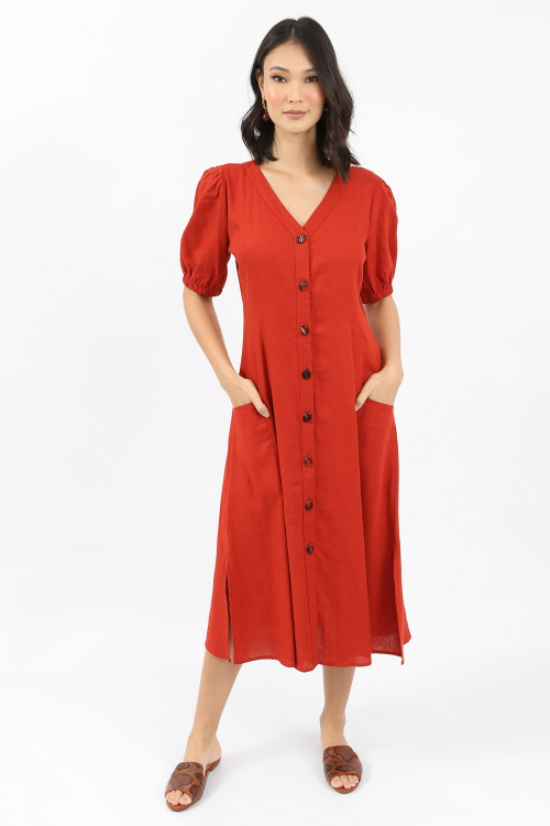 Vestido Linho Blend Chemise - I21