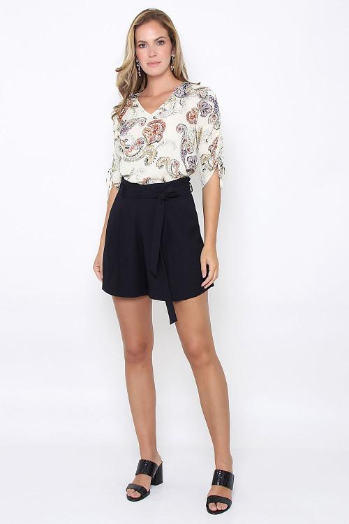 Shorts Saia Crepe - V19