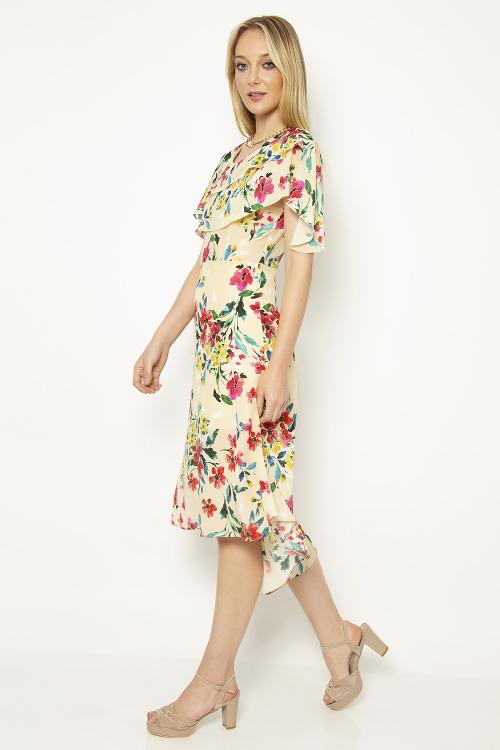 Vestido Capa Bouquet- Caf - V18