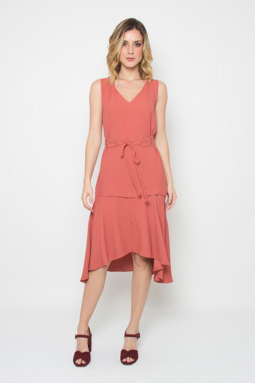 Vestido Faixa Bordada - I19