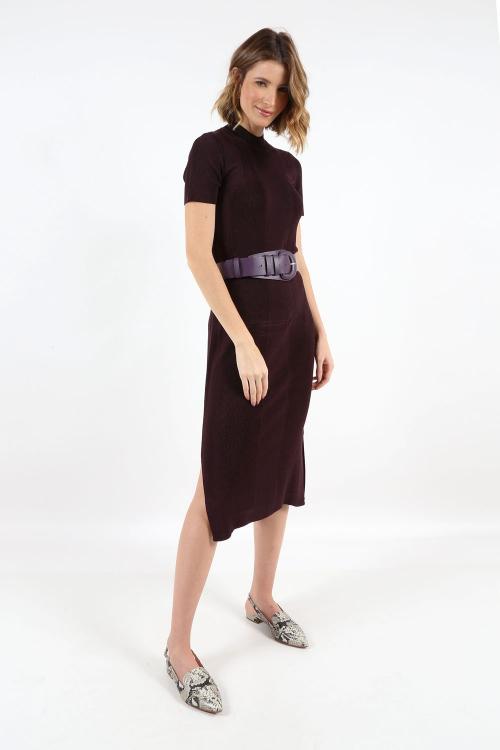 Vestido Tricot Gola - P - S21