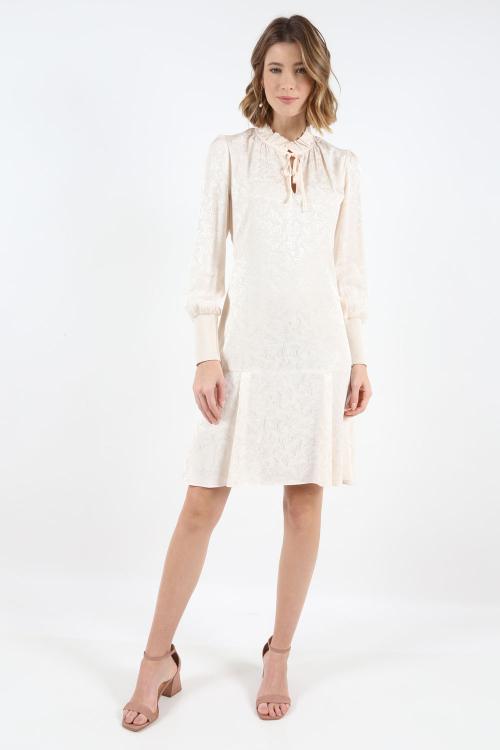 Vestido Gola Laco Jacquard - I20