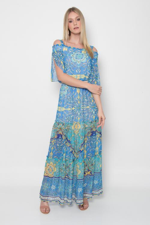 Vestido longo ggt lenço - V19
