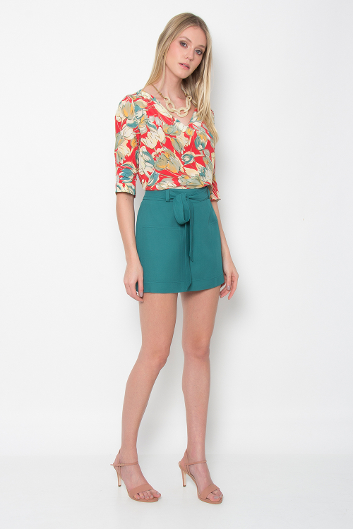 Shorts Saia Crepe Vita - V18
