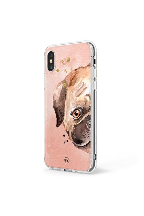 Capa Iphone X Pug - V18